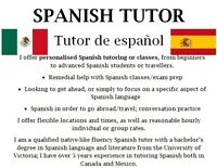 Spanish Classes/Tutoring