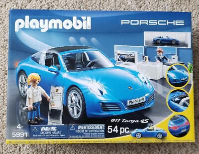 PLAYMOBIL #9551 BLUE PORSCHE 911 TARGA 4S NEW