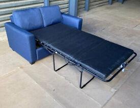 Habitat 2 Seater Fabric Sofa Bed - Navy Blue.