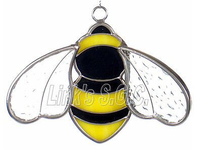 Stained Glass Bee Sun Catcher