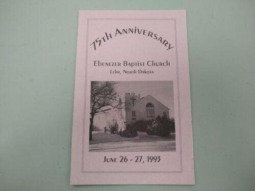 1993 Lehr North Dakota Ebenezer Baptist Church 75th Anniversary booklet history