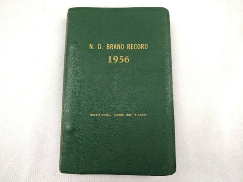1956 through 1964 North Dakota livestock cattle brand book history farm ranch