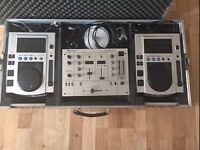 Cdj Pioneer s100 pair (x2) + Mixer Pioneer djm300 + Case + Headphone (new)