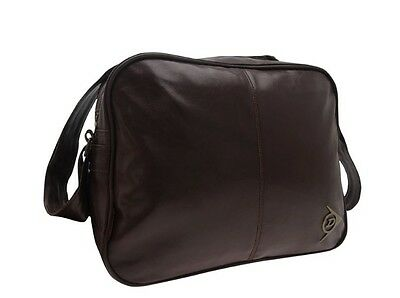 Dunlop Herren Tasche (Dunlop Retro Messenger Bag Sport Laptop Tasche Braun Neu mit Etikett)