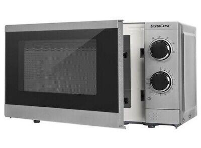 Silvercrest Mikrowelle 700W Leistung 17 L Kapazität 6 Stufen mit Auftaufunktion