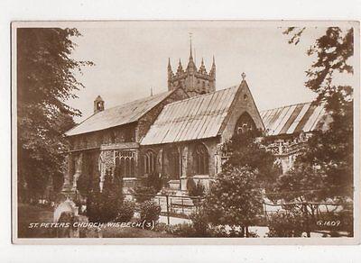 St Peters Church Wisbech Vintage RP Postcard  249a