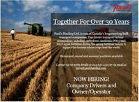 Class 1 Driver - MANITOBA SEASON - Paid Travel and Accomodations