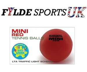 Karakal Mini Red Junior Foam Sponge Tennis Balls x 6