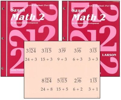 Saxon Math 2 Student Workbooks   Fact Cards Set Homeschool 1St Edition 2Nd Grade