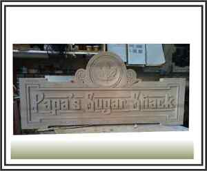 Carved or Routered Signs and More