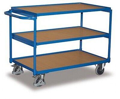 VARIOfit Tischwagen mit 3 Ladeflächen Traglast 250 kg Thermoplatische Gummibe...