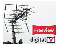 Freeview tv aerial installation / available weekends