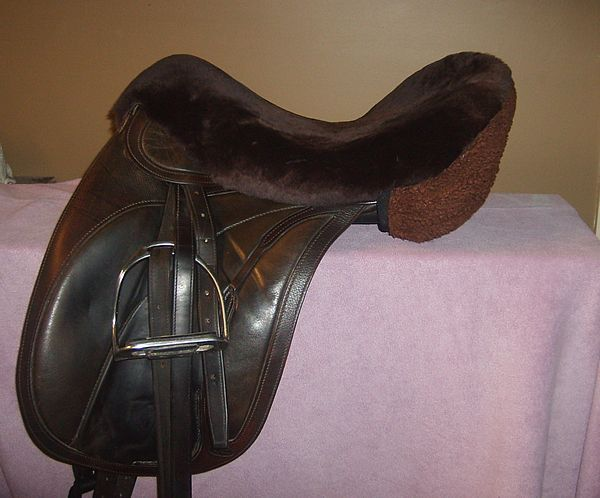 Sheepskin Seat Saver For a Dressage Jumping or all purpose Brown AUSTRALIAN MADE