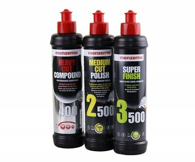 Menzerna Politur Set HC 400 MC 2500 und SF 3500 je 250 ml