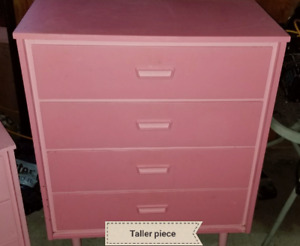 Girls pink room set   shelf can be sold sepratly