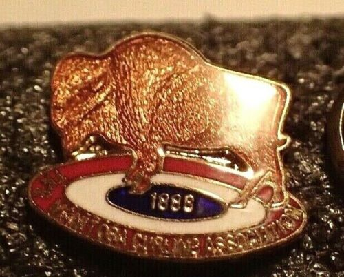Curling Pin - The Manitoba Curling Association 1888