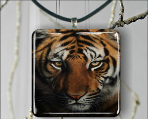 *BRAND NEW IN GIFT BOX* INTENSE TIGER LARGE GLASS NECKLACE
