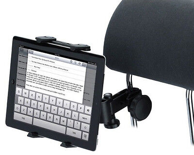 Car Headrest Mount/ Mic stand Holder for iPad Galaxy Tab Nexus Tablet PC Deluxe for sale  Shipping to India