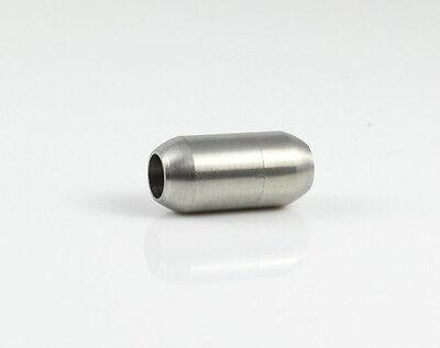 Edelstahl Magnetverschluss - matt - Ø 5 mm - Armband herstellen schmuck, Surfer Magnetverschluss