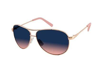Jessica Simpson Metal Rose Gold/Pink Aviator J106-RGLD Womans Sunglasses w/ (Jessica Simpson Gold Aviator Sunglasses)