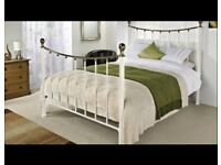 Cream Metal Bed Frame - Standard Double