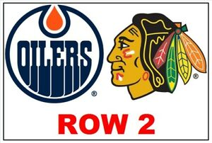 Chicago BLACKHAWKS @ Edmonton OILERS *Row 2* Tickets, 11/1/18