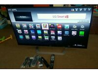 Lg 55 inch super slim line smart 3D cinema led new condition fully working with remote control