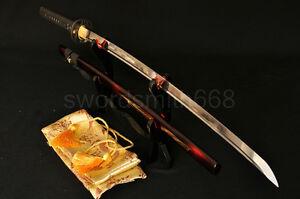 1060-High-Carbon-Steel-FullTang-Blade-Japanese-Samurai-Battle-Ready-Sword-Katana