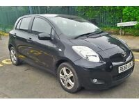 Toyota Yaris, Black Colour, 2010 year, black 5 door petrol Quick SALE