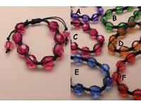 Facetted translucent bead corded bracelet - JTY086
