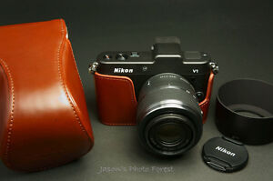Handmade-Full-Real-Leather-Camera-Case-for-Nikon-V1-For-10-30mm-f3-5-5-6-Lens