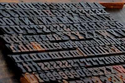Letterpress Wood Printing Blocks 219pcs 1.18 Tall Wooden Type Woodtype Alphabet