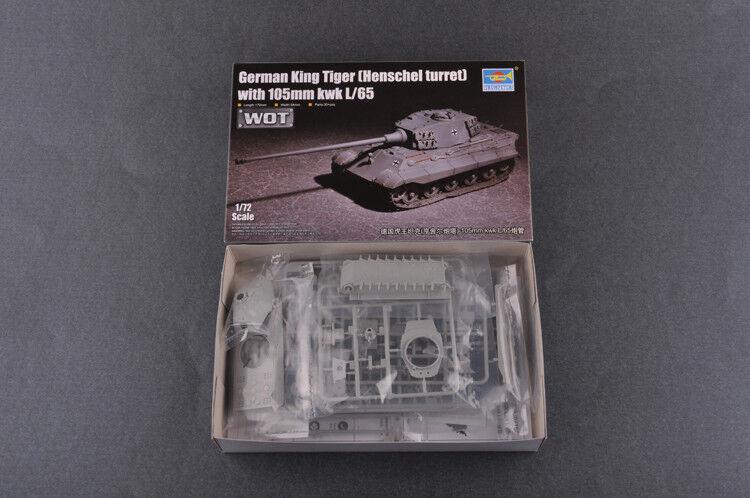 Henschel Turret w//105mm kwk L//65 in 1:72 TRUMPETER® 07160 King Tiger