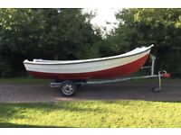 14ft open boat and trailer