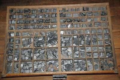 LITHOGRAPHIQUE 30p Bleischrift im Setzkasten Bleisatz lead type Typographie