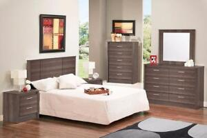Boxing Day Promotion! Canadian Made, Gray Finish, Queen Bedroom Set