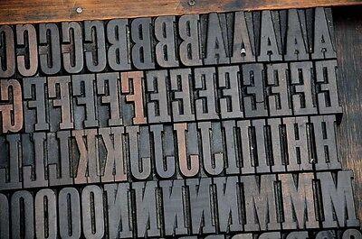 Letterpress Wood Printing Blocks 158pcs 1.61 Tall Alphabet Wooden Type Woodtype