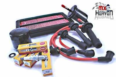 Mazda MX5 MK2 Full Service Kit & Red HT Leads 1998>05