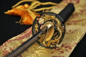 High Quality Japanese Samurai Dragon Sword Katana Full Tang Blade Very Sharp