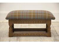 Vintage Ercol Tudor Adjustable Footstool