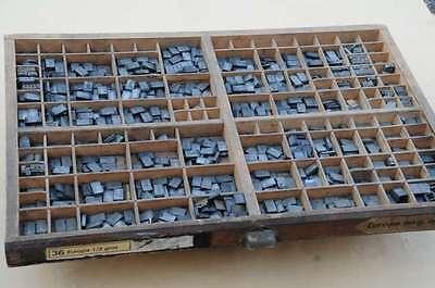 EUROPE 36p Bleischrift im Setzkasten Bleisatz Schrift Alphabet lead type