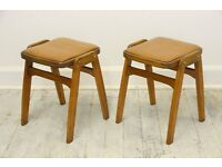 Mid Century 1960's Stacking Stools (Pair)