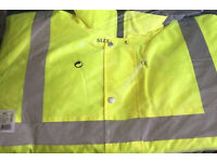 Hi viz waterproof jacket only Medium left