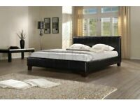 🔺Designer Furniture🔻(4ft6inch) Double & (5ft)King Size Leather Bed Frame W Opt Mattress- Order Now