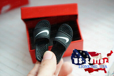 "Used, 1/6 Scale Nike Slides Sandals Slippers B For Hot Toys Phicen 12"" Figure  ❶USA❶ for sale  Shipping to Nigeria"