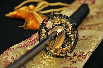 "41"" Handmade Japanese Samurai Battle Ready Dragon Sword Katana Ful Tang Blade"