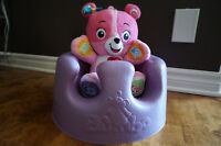 LILAC BUMBO BABY FLOOR SEAT - BARELY USED with straps