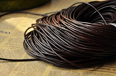5M  Top Genuine Leather Cord Thread For Diy Bracelet Necklace Jewelry Making