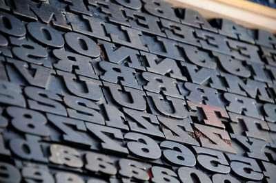 Letterpress Wood Printing Blocks 179 Pcs 1.02 Tall Alphabet Type Woodtype Rare