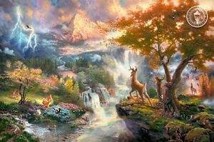 Bambi's First Year by Thomas Kinkade Strathcona County Edmonton Area image 1